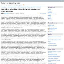 Building Windows for the ARM processor architecture - Building Windows 8