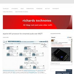 Apache NiFi processor for streamed audio over MQTT