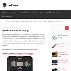Best Processors for Laptops - Haribook