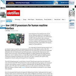 New i.MX 8 processors for human machine interface