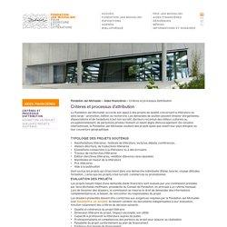 Critères et processus d'attribution – Fondation Jan Michalski