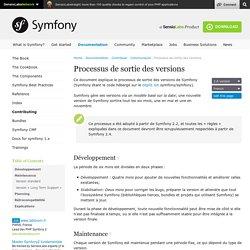 Processus de sortie des versions (Contributing to Symfony)