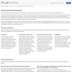 Notre processus d'embauche - Google Carrières