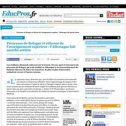 Processus de Bologne et réforme de l'enseignement supérieur : l'Allemagne fait marche arrière