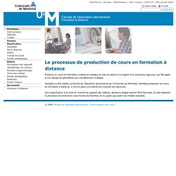 Processus de production FOAD
