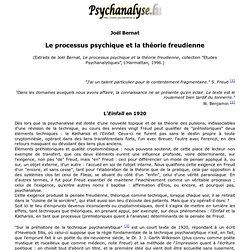 Le processus psychique et la théorie freudienne