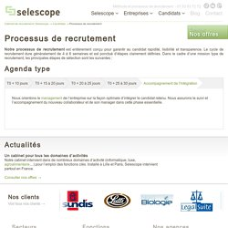 Méthode et processus de recrutement Selescope