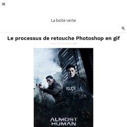 Le processus de retouche Photoshop en gif