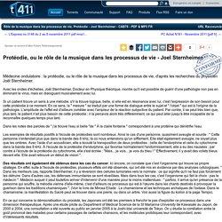 """Détails du Torrent """"Rôle de la musique dans les processus de vie, Protéodie - Joel Sternheimer - CAB76 - PDF & MP3 FR"""""""