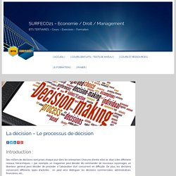 SURFECO21 - Economie / Droit / Management