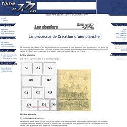 Le processus de Création d'une planche - Tintin de 7 à 77 ans - tintinde7a77ans.free.fr