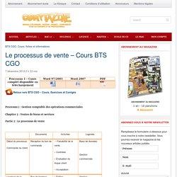 Le processus de vente - Cours BTS CGO