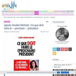 Agnès Verdier-Molinié : Ce que doit faire le - prochain - président - artsixMic