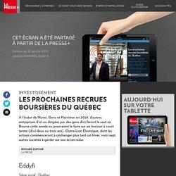 Les prochaines recrues boursières du Québec