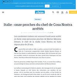 Italie : onze proches du chef de cosa nostra arrêtés - le Parisien