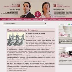 Maître MEIMON NISENBAUM » Publications » Un droit pour les proches des victimes