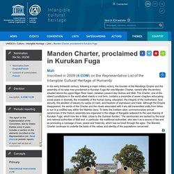 Manden Charter, proclaimed in Kurukan Fuga - intangible heritage - Culture Sector