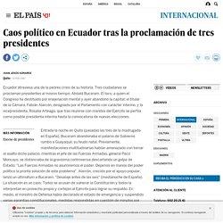 Caos político en Ecuador tras la proclamación de tres presidentes