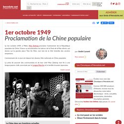 1er octobre 1949 - Proclamation de la Chine populaire - Herodote.net