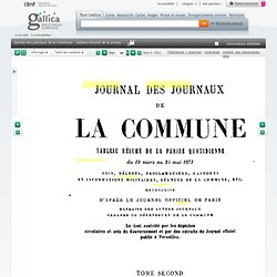 Journal des journaux de la Commune : tableau résumé de la presse... - Gallica