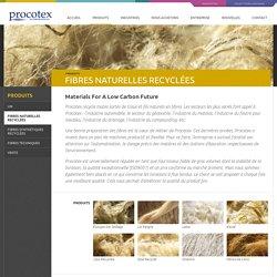 Procotex > Produits > Fibres Naturelles Recyclees