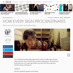 How Every Zodiac Sign Procrastinates - AstroTwins Horoscope Gifs