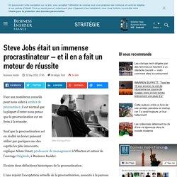 Steve Jobs était un immense procrastinateur — et il en a fait un moteur de réussite - Business Insider France