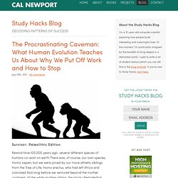 The Procrastinating Caveman: What Human Evolution Teaches Us About Why We Put Off Work and How to Stop