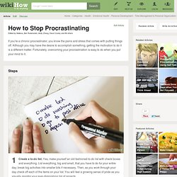 How to Stop Procrastinating: 10 Steps