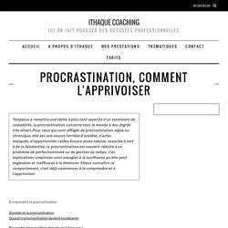 Procrastination, comment l'apprivoiser
