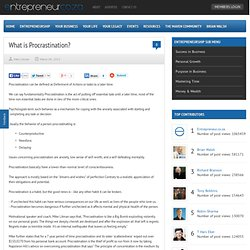 What is Procrastination?
