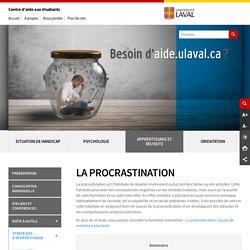 La procrastination : Centre d'aide aux étudiants