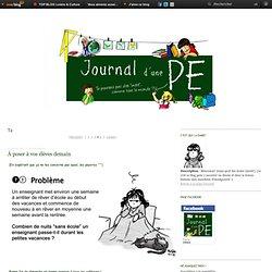 T4 - À poser à vos… - Procrastination… - Zen - Peine perdue - Halloween - Journal d'une PE (Blog BD)