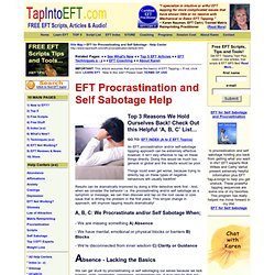 EFT Procrastination and Self Sabotage
