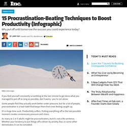 15 Procrastination-Beating Techniques to Boost Productivity (Infographic)