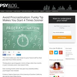 Avoid Procrastination: Funky Tip Makes You Start 4 Times Sooner