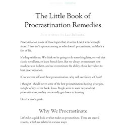 The Little Book of Procrastination Remedies | zen habits
