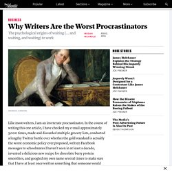 Why Writers Are the Worst Procrastinators - The Atlantic