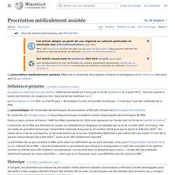 Procréation médicalement assistée