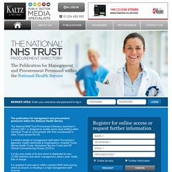 National Health Service Procurement Directory
