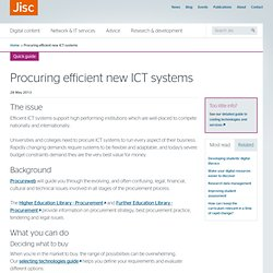 Procuring efficient new information and communications technology systems