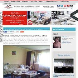 STAN Prodaja BRACE JERKOVIC, VOZDOVAC, 54 m2, 58000 e