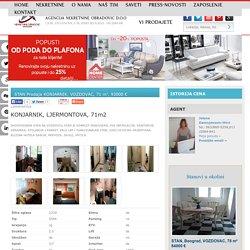 STAN Prodaja KONJARNIK, VOZDOVAC, 71 m2, 93000 e