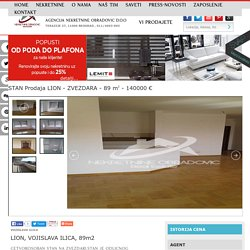 STAN Prodaja VOJISLAVA ILICA, LION, ZVEZDARA, 89 m2, 140000 e
