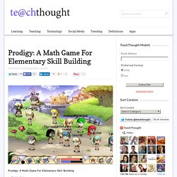 Prodigy: A Math Game For Elementary Skill Building -