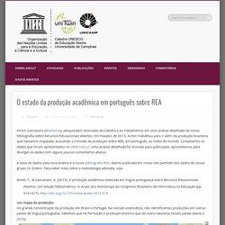 O estado da produção acadêmica em português sobre REA
