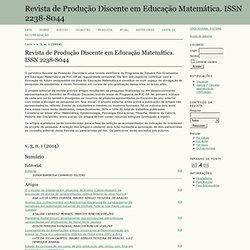 Revista de Produção Discente em Educação Matemática. ISSN 2238-8044