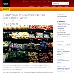 High Produce Prices Affecting Buying, Eating Habits: Survey - Campus News