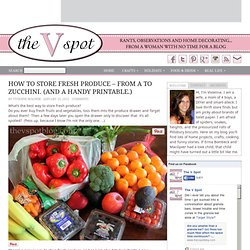 The V Spot: How to store fresh produce - From A to Zucchini. (And a handy printable.)