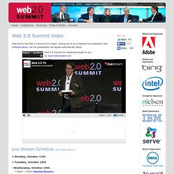 Video: Web 2.0 Summit 2011 - Co-produced by UBM TechWeb & O'Reilly Conferences, October 17 - 19, 2011, San Francisco